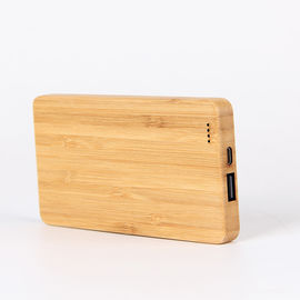 Chiny Bamboo Texture Slim 6000mAh Wood Personalized Power Bank Charger Pojedynczy port USB fabryka