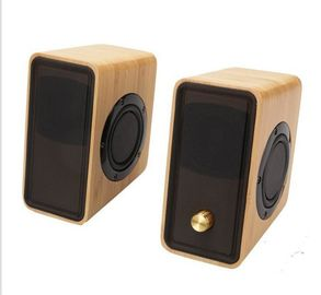 Chiny Real Bamboo Wired Wooden Speaker, Super Bass Multimedialny głośnik HiFi Desk Stereo dystrybutor